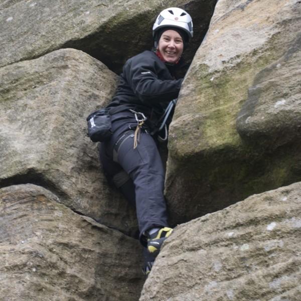 Brimham Rocks climbing