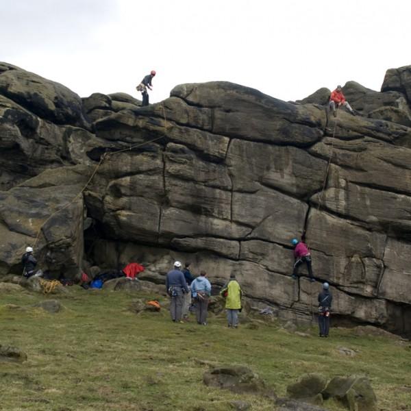 Gritstone Rock Climbing Almscliff