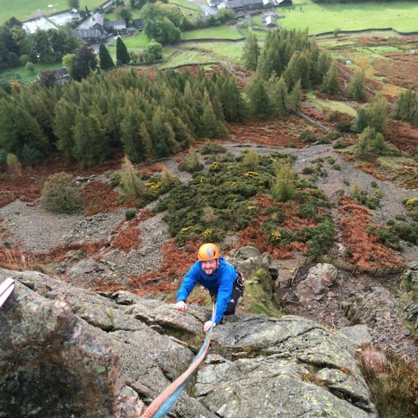 Middlefell buttress climb