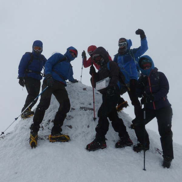 Winter Munro summit