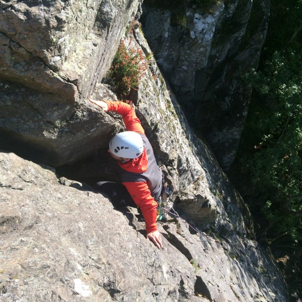 Borrowdale rock climbing