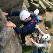 Lead climbing peaks